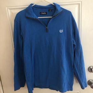 Men's chaps blue medium 1/4 zip sweater
